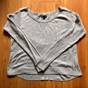 AEO beige baggy knit sweater